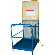 "Work Platform - Single Side Door Entry with Extended Back - 36""W x 50-7/8""L"