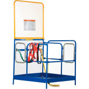 Work Platform - Dual Side Door Entry with Extended Back - Full Featured