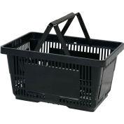 VersaCart® plastique panier 28 litres avec poignée en Nylon 206-28 L - noir, qté par paquet : 12