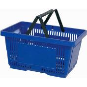 VersaCart® plastique panier 28 litres avec poignée en Nylon 206-28 L - bleu foncé, qté par paquet : 12