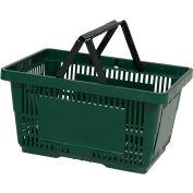 VersaCart® plastique panier 28 litres avec Nylon poignée 206-28 L - Drk vert, qté par paquet : 12