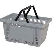 VersaCart® plastique panier 28 litres avec poignée en Nylon 206-28 L - Lt gris, qté par paquet : 12