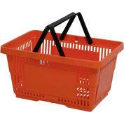 VersaCart® plastique panier 28 litres avec poignée en Nylon 206-28 L - Orange, qté par paquet : 12