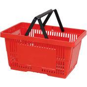 VersaCart® plastique panier 28 litres avec poignée en Nylon 206-28 L - rouge, qté par paquet : 12