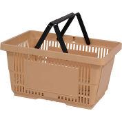 VersaCart® plastique panier 28 litres avec poignée en Nylon 206-28 L - Tan, qté par paquet : 12