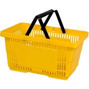 VersaCart® plastique panier 28 litres avec poignée en Nylon 206-28 L - jaune, qté par paquet : 12
