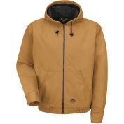 Red Kap® Blended Duck Zip Front Hooded Jacket Regular-4XL Brown Duck JD20