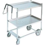 Vollrath, Heavy Duty 2 Shelf Ergonomic Cart, 97200, acier inoxydable, 650 lb Cap