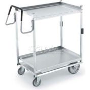 Vollrath, Heavy Duty 2 Shelf Standard Cart, 97205, acier inoxydable, 650 lb Cap