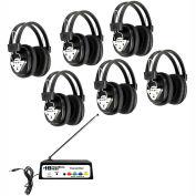 HamiltonBuhl Wireless écoute Center, Station 6 w / casque & Bluetooth® émetteur