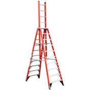 Werner E7410CA - 10' Grade 1A Fiberglass Extension Trestle Ladder