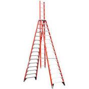Werner E7416CA - 16' Grade 1A Fiberglass Extension Trestle Ladder