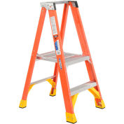 Werner P6202CA - 2' Grade 1A Fiberglass Platform Step Ladder, 300 lb. Capacity