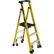 Werner PD7303-4CCA - 3' Grade 1AA Fiberglass Podium Ladder w/ Casters, 375 lb. Capacity