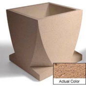Wausau WS108 Square Outdoor Planter - Weatherstone Sand 30x30x30