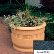 Wausau WS4026 Round Outdoor Planter - Weatherstone Charcoal 36x24