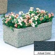 Wausau TF4150 Rectangular Outdoor Planter - Weatherstone Charcoal 36x18x14