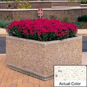 Wausau TF4195 jardinière carrée extérieure - Weatherstone blanc 36 x 36 x 30
