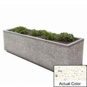 Wausau TF4213 Rectangular Outdoor Planter - Weatherstone White 96x48x36