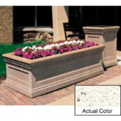Wausau TF4239 planteur extérieur rectangulaire - blanc Weatherstone 48 x 24 x 20