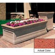Wausau TF4239 Rectangular Outdoor Planter - Weatherstone Brick Red 48x24x20
