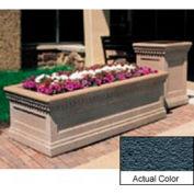 Wausau TF4239 Rectangular Outdoor Planter - Weatherstone Charcoal 48x24x20