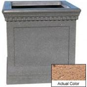 Wausau TF4242 Square Outdoor Planter - Weatherstone Sand 36x36x36