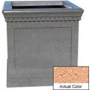Wausau TF4242 Square Outdoor Planter - Weatherstone Cream 36x36x36