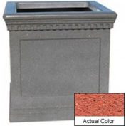 Wausau TF4242 Square Outdoor Planter - Weatherstone Brick Red 36x36x36