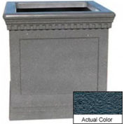 Wausau TF4242 Square Outdoor Planter - Weatherstone Charcoal 36x36x36
