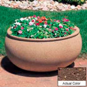 Wausau TF4340 Oval Outdoor Planter - Weatherstone Brown 36x30x18