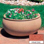 Wausau TF4340 jardinière extérieure ovale - Weatherstone brique rouge 36 x 30 x 18