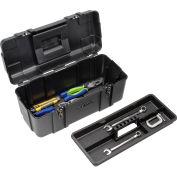"Waterloo PP-2009BK Plastic Portable 20"" Plastic Tool Box - Black"