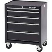 "Waterloo SCA-265BK-B Shop Series 26-1/2""W X 18""D X 32""H 5 Drawer Black Roller Cabinet"