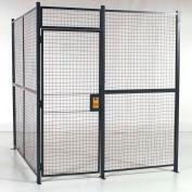 """RapidWire™ Welded Wire, 4 Sided Cage w/3' Hinged Door & Ceiling, 8' 4"""" x 8' 4"""" x 8' 5-1/4""""H"""