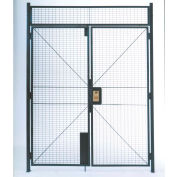 "WireCrafters® 840 Style, Woven Wire Double Hinged Door, 6'W x 7'H, 8' 5-1/4"" Overall Height"