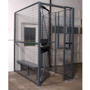 WireCrafters® 840 Style, 2 sided Driver Cage, No Ceiling 4'W x 4'D x 8'H