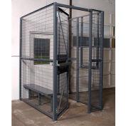 WireCrafters® 840 Style, 2 côtés conducteur Cage, aucun plafond 4 'W x 8 'd x 8' H