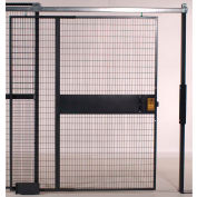 """WireCrafters® 840 Style, Woven Wire Slide Door, 3'W x 8'H, 8' 5-1/4"""" Overall Height"""