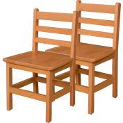 """Designs™ bois 15"""" assise hauteur chaise de bois, Carton de deux"""