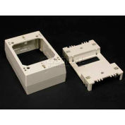 """Wiremold 2348d 1-Gang Divided Device Box, Ivory, 4-3/4""""L - Pkg Qty 10"""