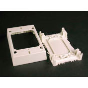 """Wiremold 2348s/51 Shallow Device/Extension Box, Ivory, 4-3/4""""L - Pkg Qty 10"""
