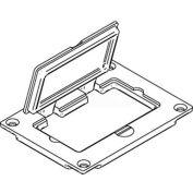 Wiremold 828gfitcal étage boîte couvercle de la prise de Gfi, aluminium, qté par paquet : 10