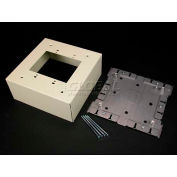 """Wiremold V3044-2 Extra Deep Switch & Receptacle Box (2-Gang), Ivory, 6-3/8""""L"""
