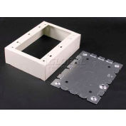 """Wiremold V5748-3 3-Gang Switch & Receptacle Box, Ivory, 4-5/8""""L"""