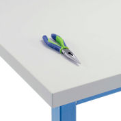 """Global Industrial™ 60""""W x 24""""D x 1-5/8""""Thick, Plastic Laminate Square Edge Workbench Top - Gris"""