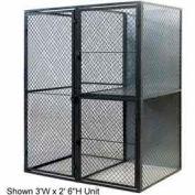 """Husky Rack & Wire Tenant Locker Double Tier Starter Unit  3' W x 3' D x 7'-6"""" Tall"""