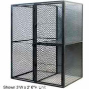 "Husky Rack & Wire Tenant Locker Double Tier Starter Unit  4' W x 4' D x 7'-6"" Tall W/Ceiling"