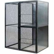 """Husky Rack & Wire Tenant Locker Single Tier Add-On Unit  4' W x 3' D x 7'-6"""" Tall"""