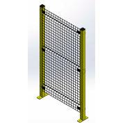 "Husky Rack & Wire, Velox, Machine Guard Panel,10""W x 2'H, Black"